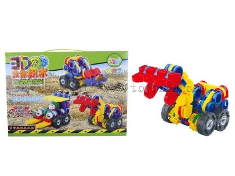 3 D building block engineering car No.:9992A