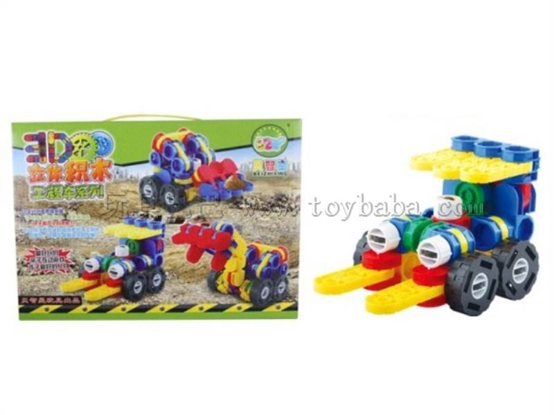 3 D building block engineering car No.:9992B