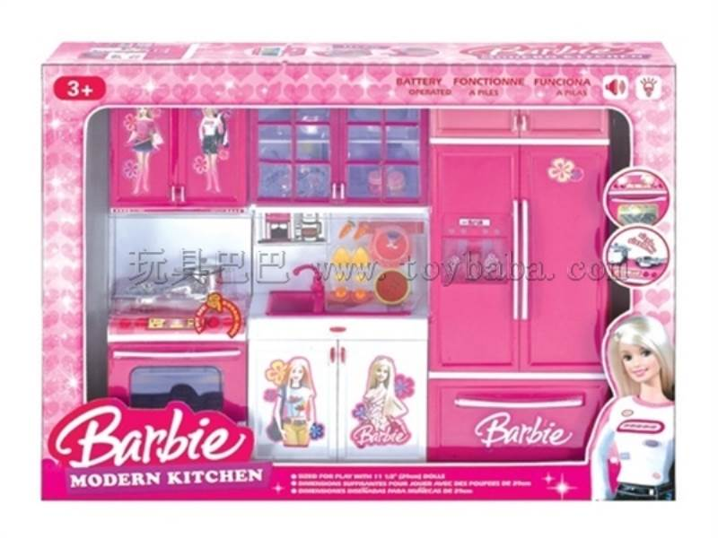 Barble fashion kitchen set(3-in-1) No.:QF26210BA