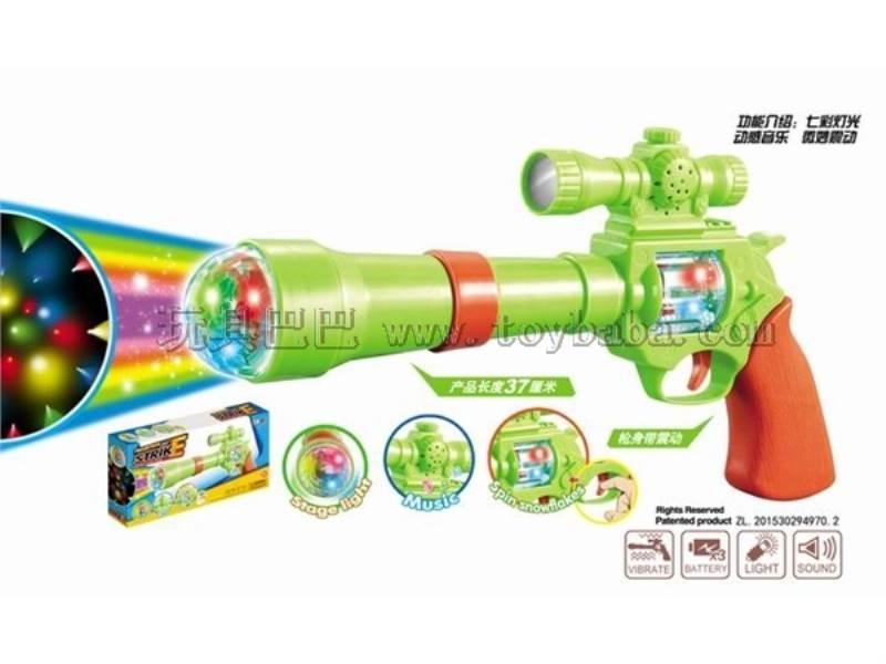 Rotating light box ZhuangShi color voice gun No.:938-1