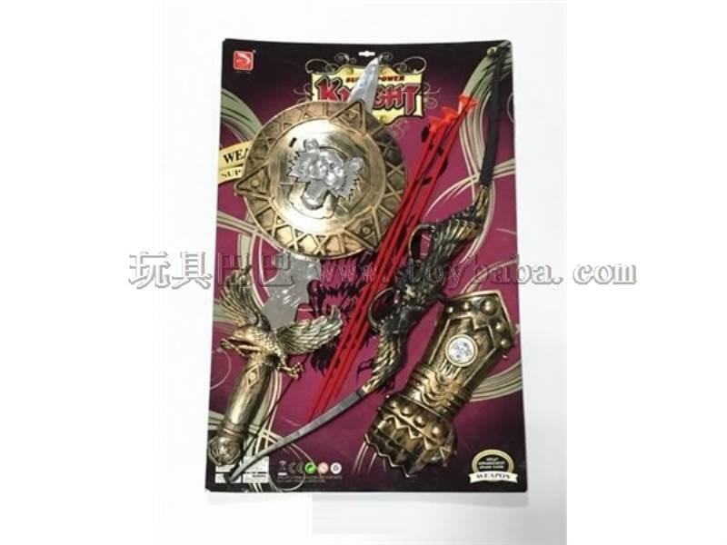 Bronze sword + bronze bow + hand + bronze shield No.:K155-31