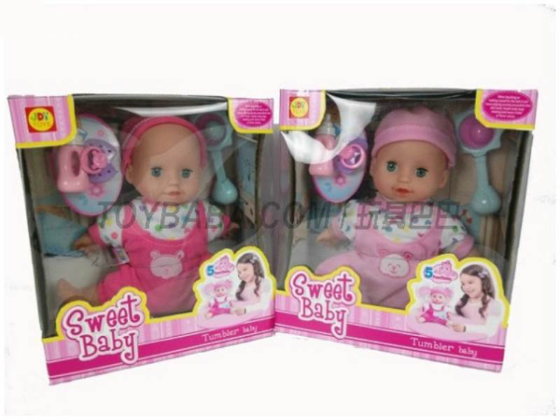 i16 i induction playful voice does not fall doll(with rattles baby bottles pacifiers)i  No.:201003