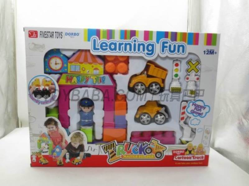 Since the fight cartoon truck ( two with building blocks ) No.:FS-35115