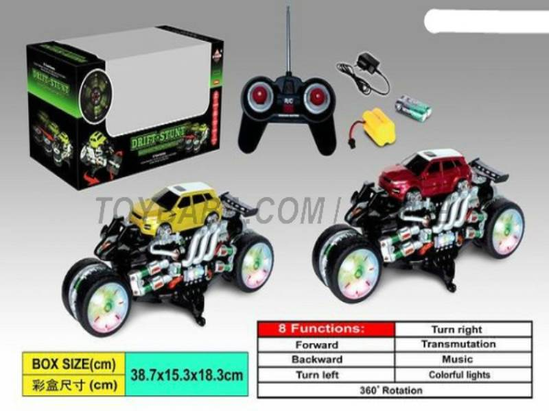 8 Function rampant stunt car ( simulation pattern) (body with lights No.:666-HX05