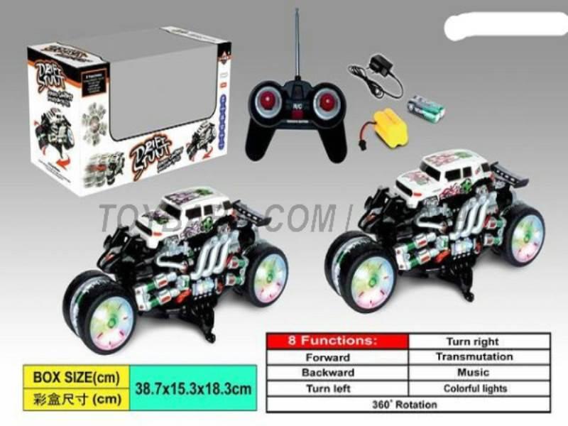 8 Function rampant stunt car (fire distinctive pattern ) (body with lights No.:666-HX10