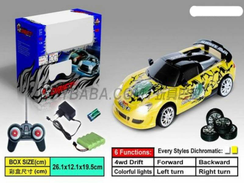 Four-wheel drift car (including charging) No.:666-214