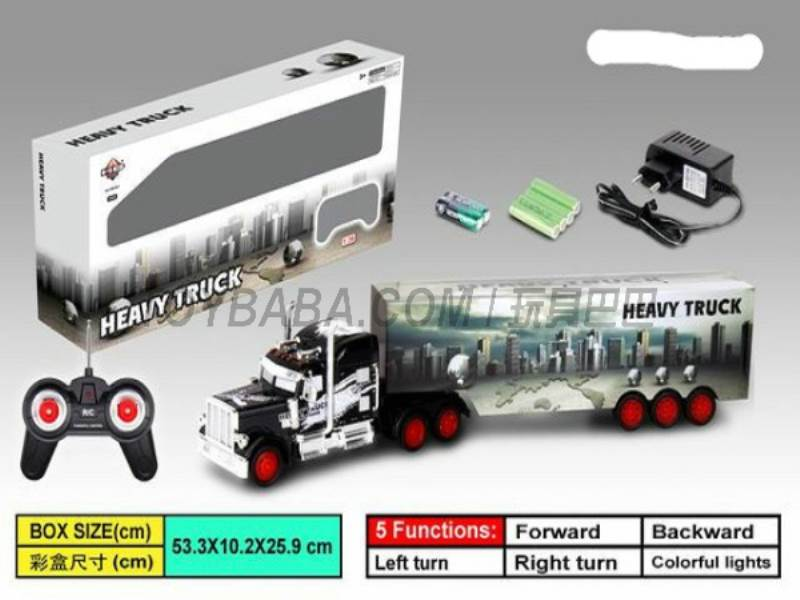 1:36 Stone Container trailers ( India Earth City ) (for charging with lights ) No.:666-401