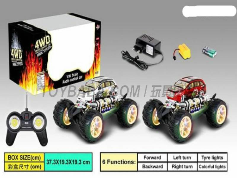 1:16 Stone fire -road remote control car (including charging) (bright windows No.:666-348