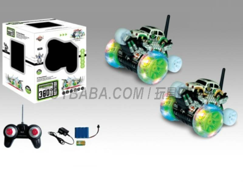 8 features a single wheel rotation stunt car robot pattern (body with lights  No.:666-XD07