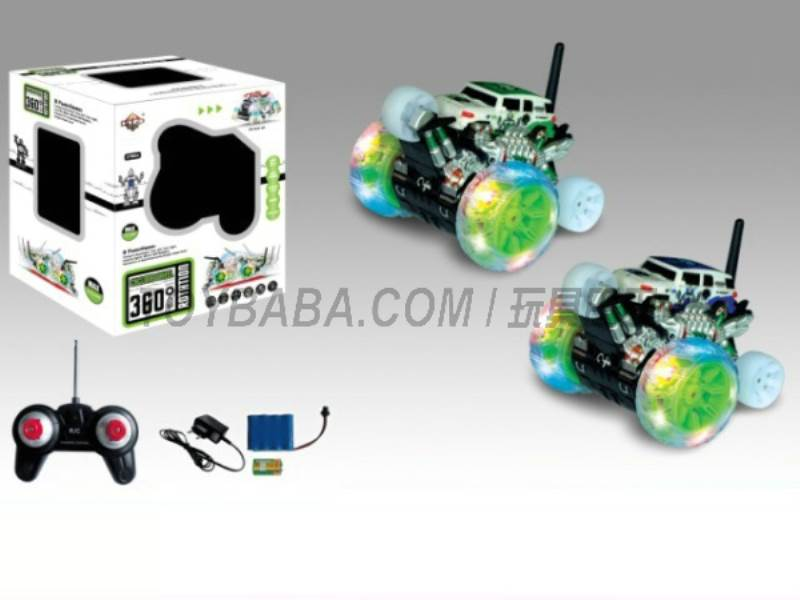 8 features a single wheel rotation stunt car robot pattern (body with lights  No.:666-XD10