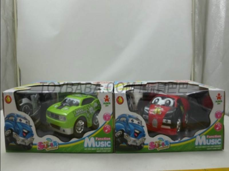 Color cartoon stunt remote control cars (including electricity + charger) No.:2014EF