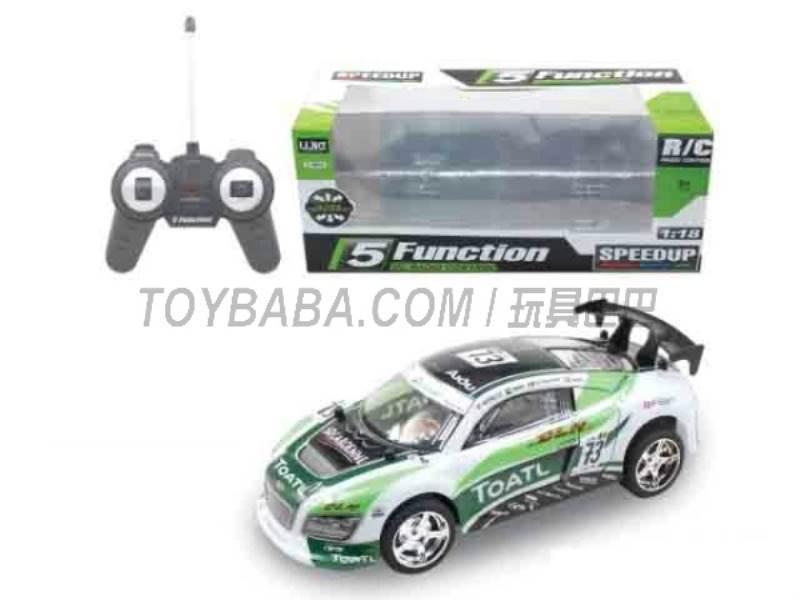 1:18 five -way remote control car ( green) No.:UJ99-2