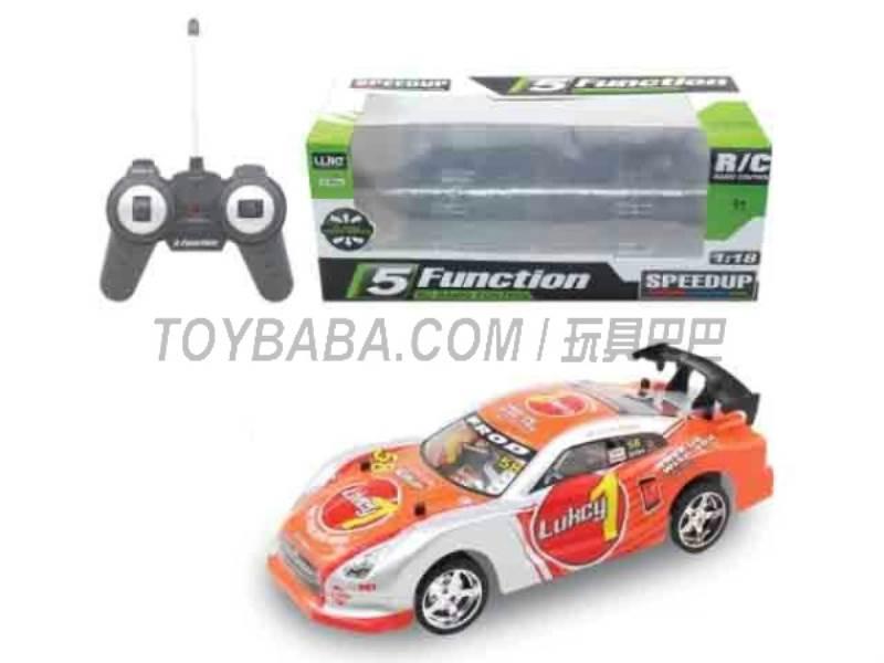 1:18 five -way remote control car (orange ) No.:UJ99-4