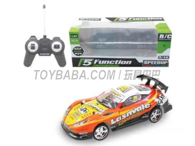 1:18 five -way remote control car (orange ) No.:UJ99-6