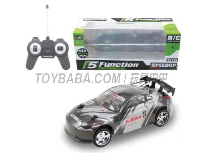 1:18 five -way remote control car (Black ) No.:UJ99-7