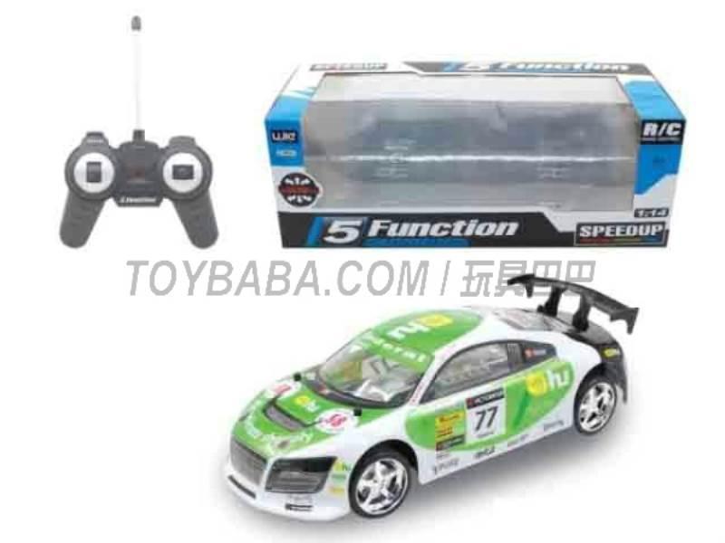 1:14 five -way remote control car ( Green) No.:UJ99-13