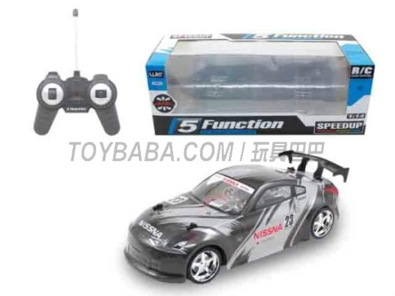 1:14 five -way remote control car (Black ) No.:UJ99-15