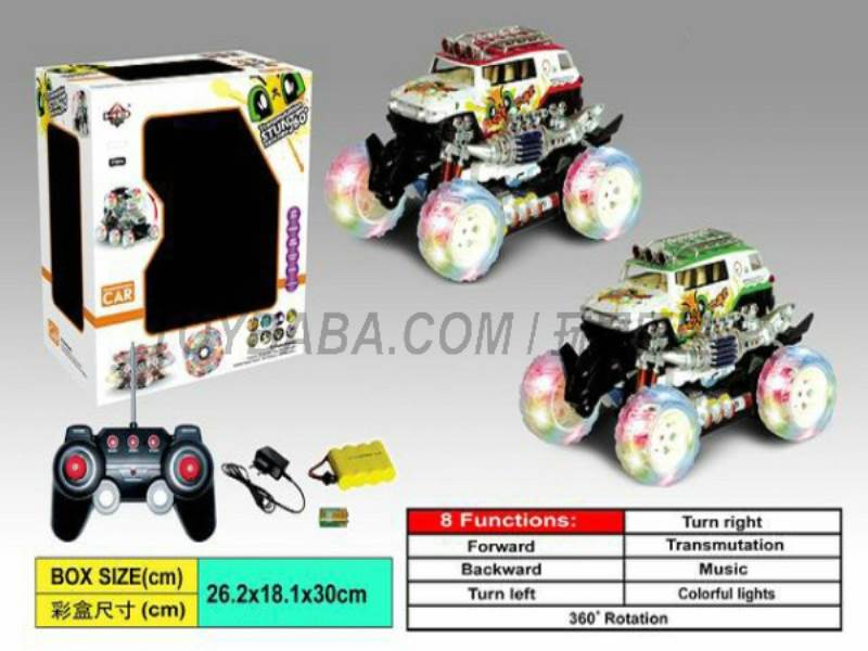 8 Function deformation stunt car ( cartoon images ) (body with lights No.:666-BX09
