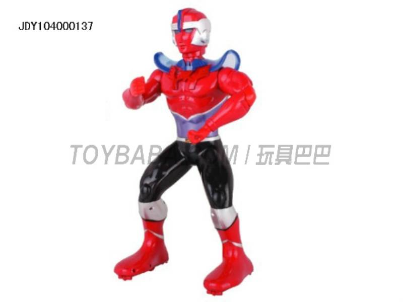 The new remote control robot Superman ( multifunction voice light action with 11 action demo ) No.:2028-32