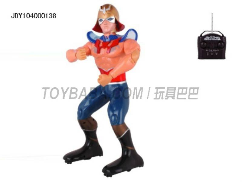 The new remote control robot Superman ( multifunction voice light action with 11 action demo ) No.:2028-33