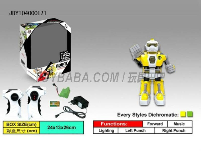 Fighting robots intelligent infrared remote control (yellow green)  No.:333-VS02