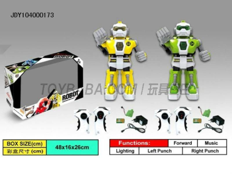 Fighting robots intelligent infrared remote control (yellow green)  No.:333-VS04