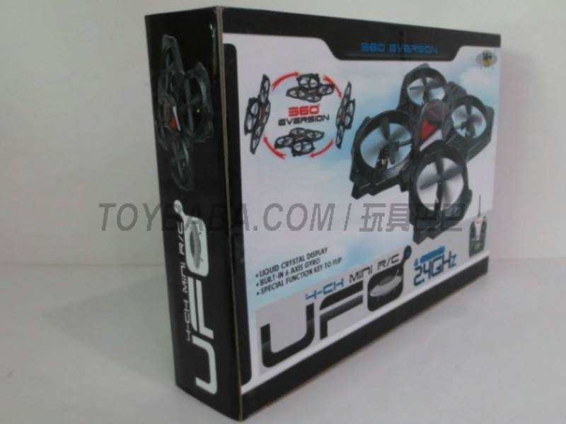 Quadrocopter (6 -axis gyroscope ) UFO ( black) No.:W608-1