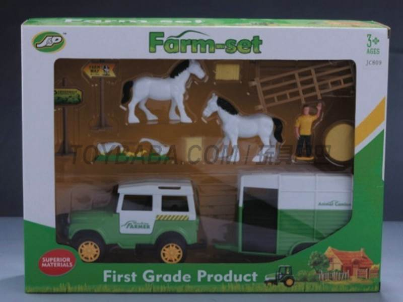 Boxed sets of sliding farmer car Farms No.:JC809