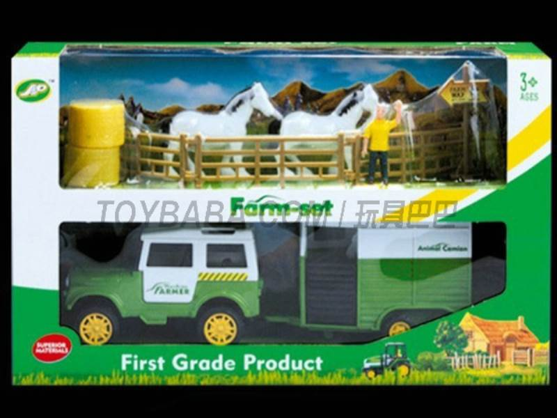 Boxed sets of sliding farmer car Farms No.:JC819
