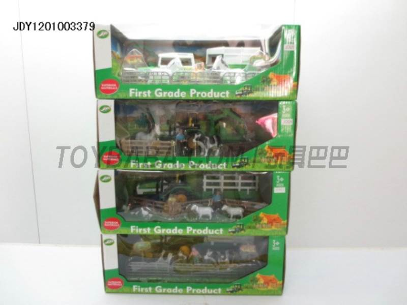 Boxed sets of sliding farmer car (4) mixed farm No.:C825-JC826-JC827