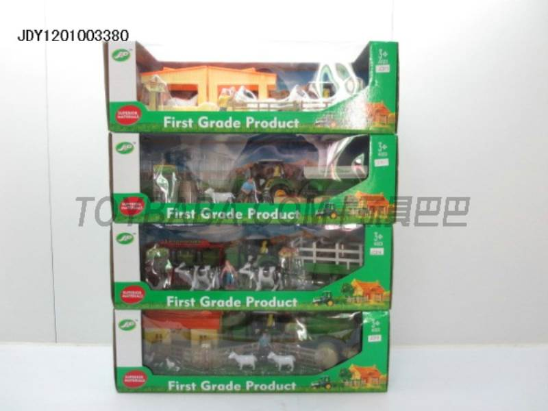 Boxed sets of sliding farmer car (4) mixed farm No.:JC814-JC815-JC816-JC817