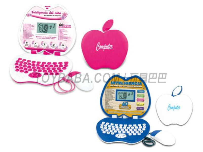 60 functional English / Spanish learning machine ( pink blue) No.:MD6608ES