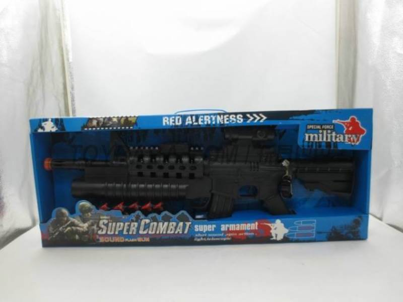 Vibration flash voice gun ( Black) binoculars / soft bullet bullet / small butt No.:9300K
