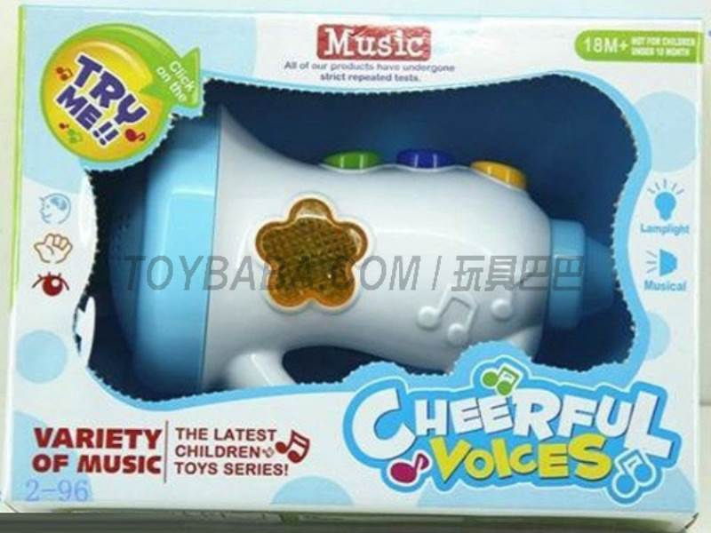 Cartoon Music Speaker ( pack of AA batteries ) No.:JLD333-4A