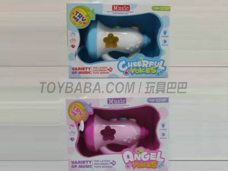 Cartoon Music Speaker ( 2 mix pack of AA batteries ) No.:JLD333-4A