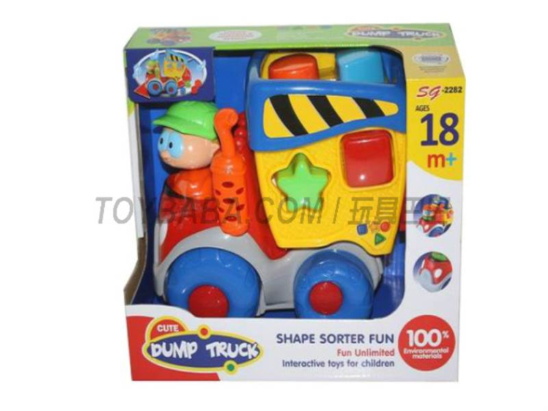 Electric cartoon blocks car universal does not include 3AA No.:SG-2282
