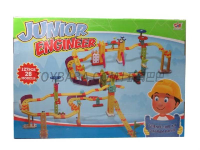 Goose engineers building blocks assembled game No.:880-9