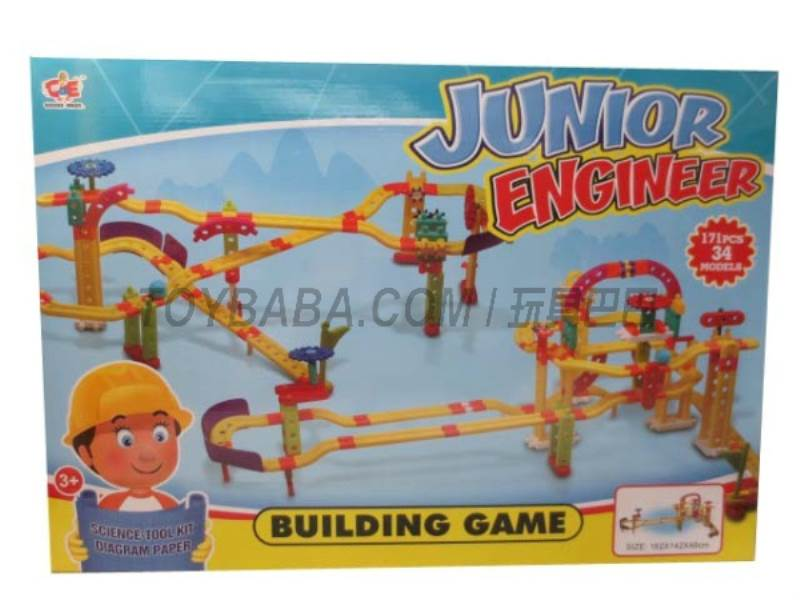 Goose engineers building blocks assembled game No.:880-10
