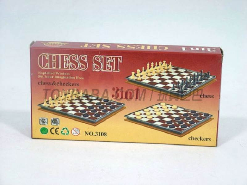 International chess 3 -in-1 ( magnetic) No.:3108