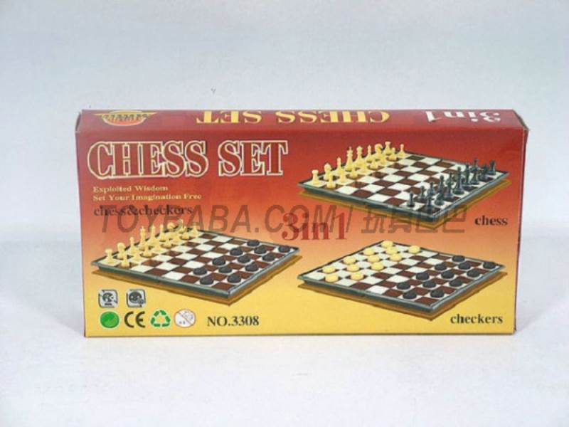 International chess 3 -in-1 ( magnetic) No.:3308