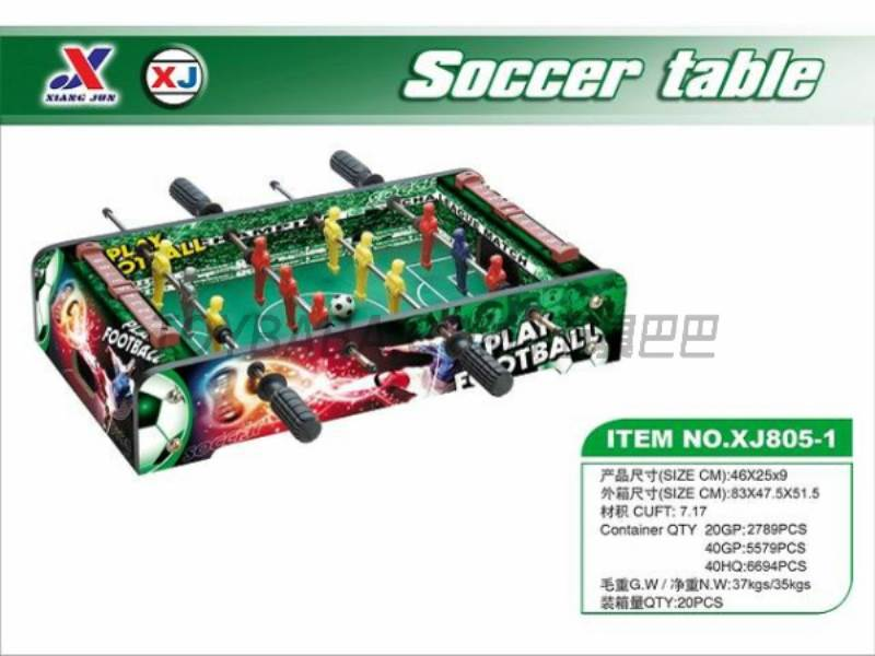 Soccer Table (1 paragraph 1 color) No.:XJ805-1