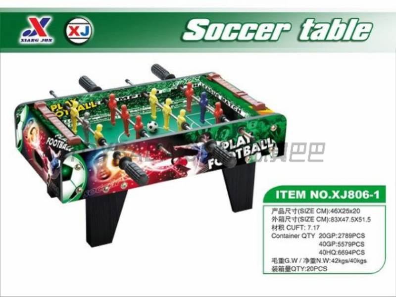 Soccer Table (1 paragraph 1 color) No.:XJ806-1