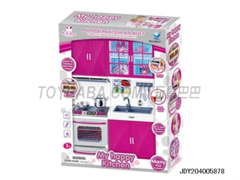 Vegetable Box + oven ( light music with two 7 batteries ) No.:66037-2