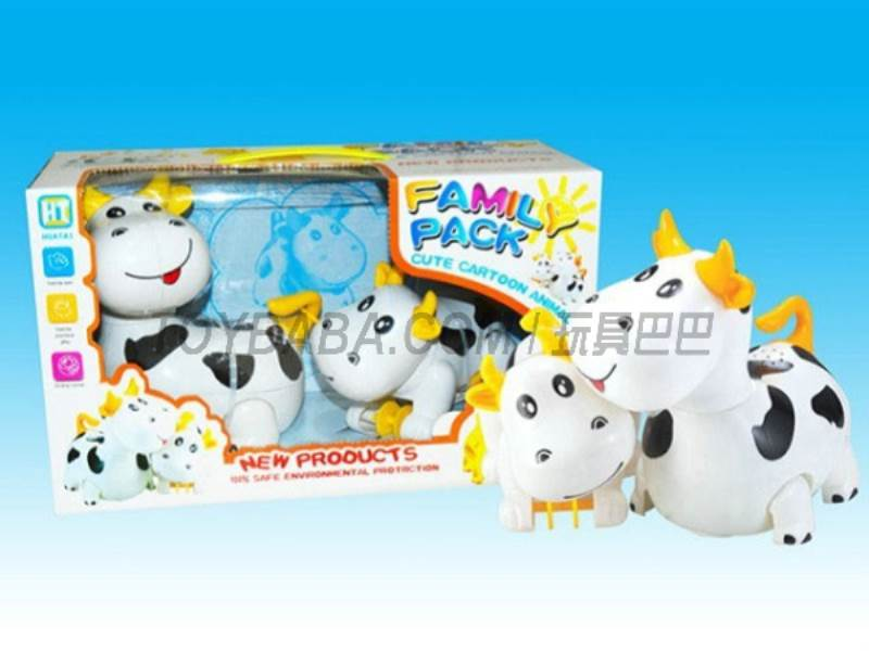 Electric light music universal cartoon cows pull a small cows No.:HT9924A
