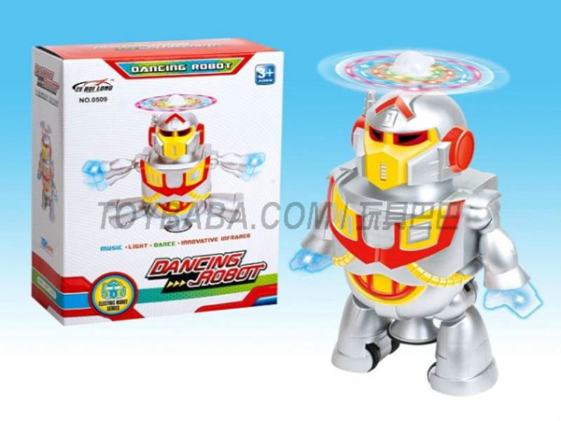Electric Dancing Robot (blue yellow two -color mix ) No.:509
