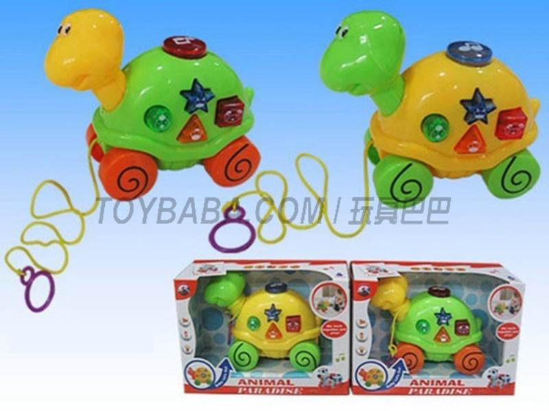 Electric drag turtle with light and music (2 * AA) NOT INCLUDED No.:Q-94