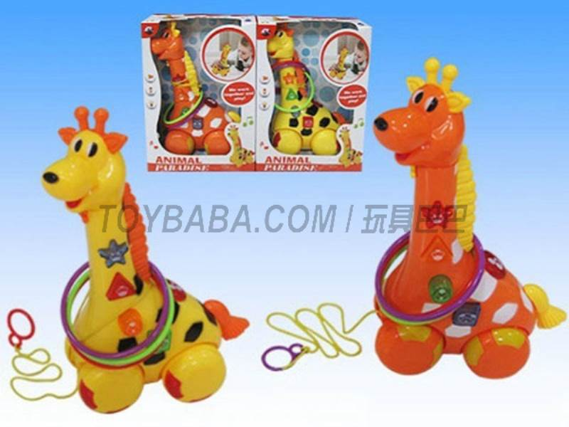 Electric drag giraffe with light and music (2 * AA) NOT INCLUDED No.:Q-90