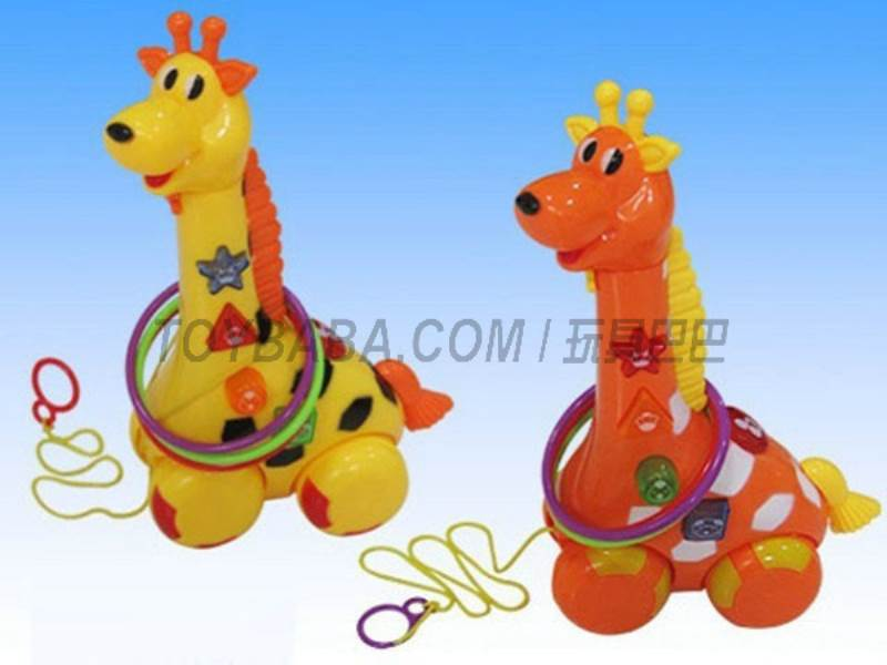 Electric drag giraffe with light and music (2 * AA) NOT INCLUDED No.:Q-100