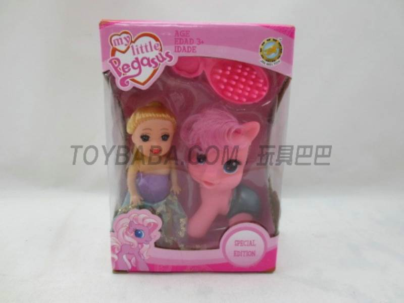 Cartoon Horse + Barbie No.:6614-13