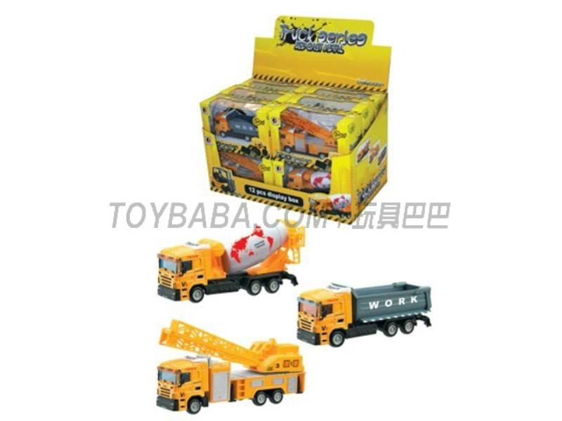Sliding alloy construction vehicles ( yellow) No.:1813-1A-G